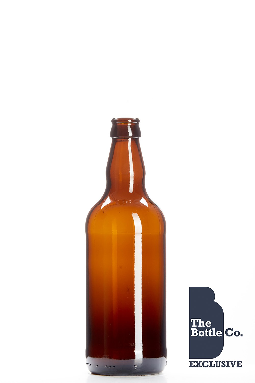 BOTTLE COMPANY 100 X 500ML APPROX ROUND (AMBER) GLASS CIDER,BEER BOTTLE 500BEER96