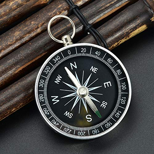 Mini Pocket Compass Rotating Bezel Magnetic Heading Large Font for Navigation Orienteering and Survival Camping Hiking ()