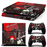 PS4 Playstation 4 Console Skin Decal Sticker The Walking Dead + 2 Controller Skins Set
