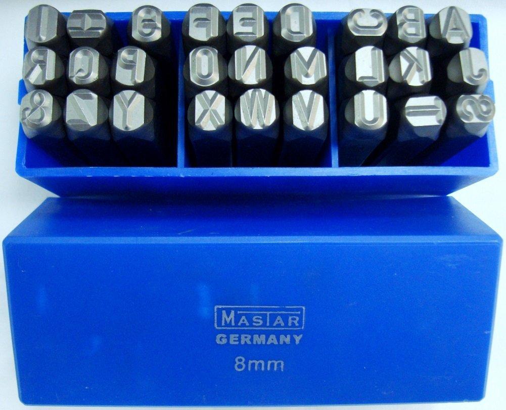 27 piezas de herramientas profesional de 8 mm de letra estampado juego de troqueles