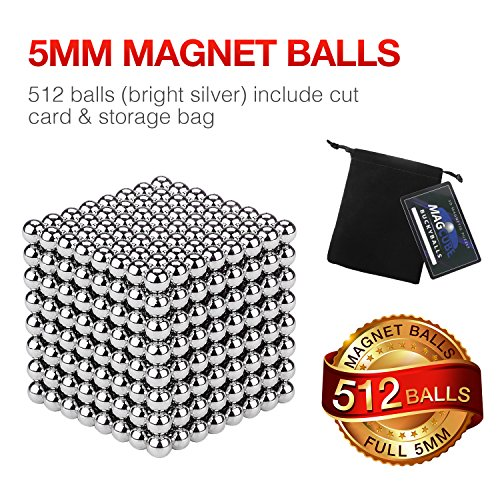 JOYNOTE 5MM 512 PCS Large Size Sculpture Buildable Magnets Office Toy for Intelligence Development & Stress Relief by JOYNOTE