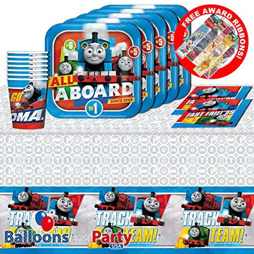 Thomas the Tank Engine Trains Birthday Party Tableware Pack Kit For 16