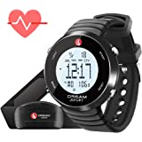 Dream Sport Heart Rate Monitor Chest Strap and Watch, 5.3KHZ Wireless/Work with Treadmill/Perfect for Workout/Stopwatch/Alarm/Calorie Counter/BMI/30M Water Resistant