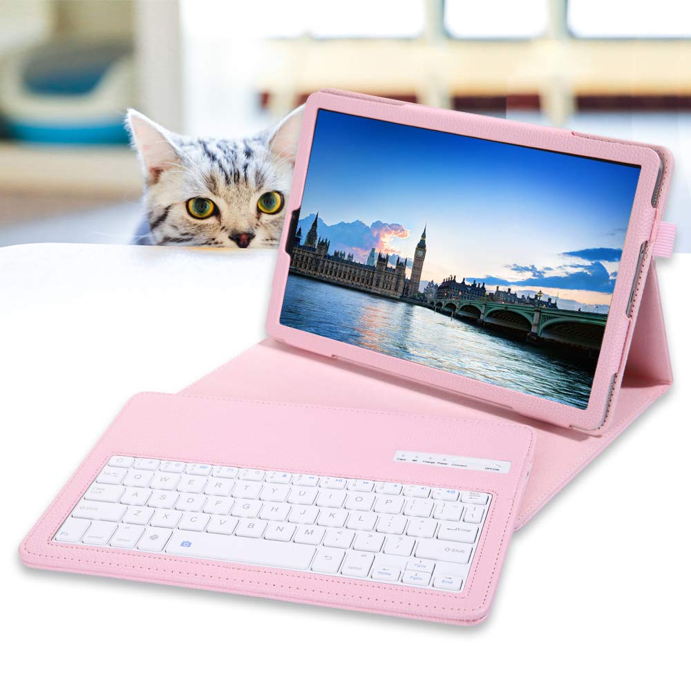 Red SM-T510//T515//T517, 2019 REAL-EAGLE Galaxy Tab A 10.1 2019 Keyboard Case ,Folio Case with Wireless Keyboard for Samsung Galaxy Tab A 10.1 2019
