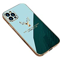 For IPhone 12 pro max GKK ShockProof TPU Protect Camera Case Cover - Green