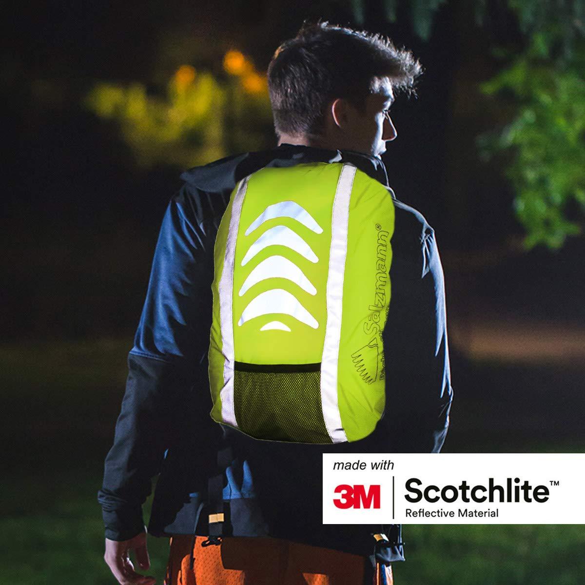 Alta Visibilidad Equipada con 3M Scotchlite Impermeable Salzmann 3M Cubierta de Mochila Reflectante