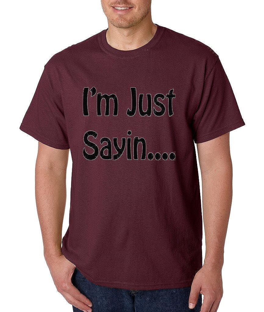 VISHTEA Im Just Sayin U Know T-Shirt Funny Sarcasm Humor Shirts