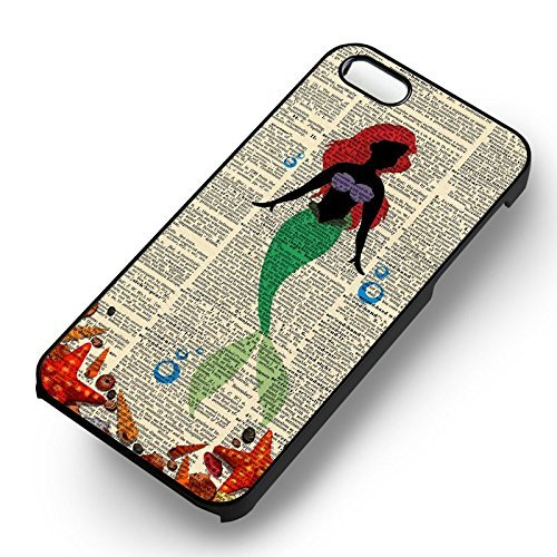 Ariel Mermaid Silhouette pour Coque Iphone 6 et Coque Iphone 6s Case (Noir Boîtier en plastique dur) M6O5XD