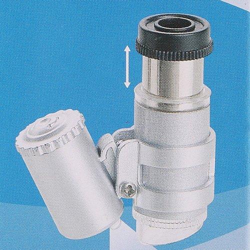 Kingzer 3PCS 45x Mini Jeweller Magnifier Pocket Loupe Microscope Handheld 2 LED Light