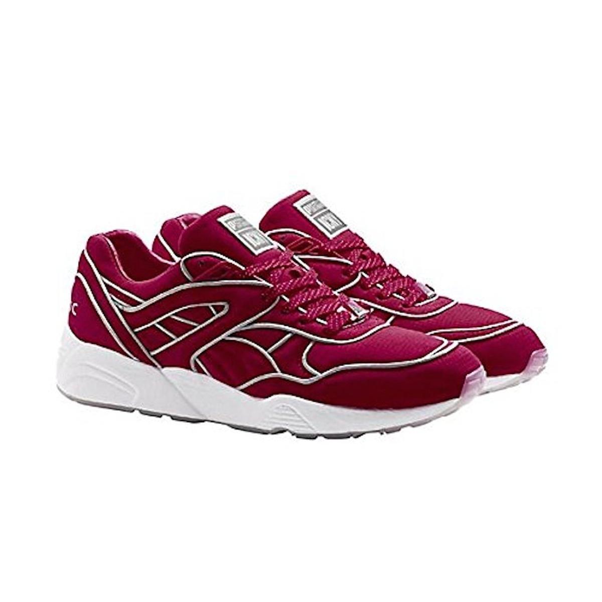 47926d52117 Amazon.com  Puma Men s Trinomic R698 x ICNY Fiery Red Running Shoes (9)   Shoes