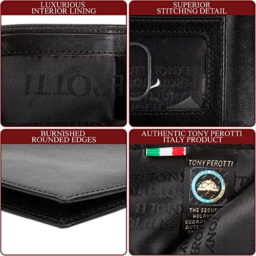 Tony Wallet Window ID Ultimo w Tony Black Hipster Perotti Perotti H45nxwqZ