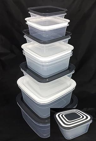 Vorratsdosen-Set 14-teilig Aufbewahrungsdosen Frischhaltedosen Aufbewahrungsbox