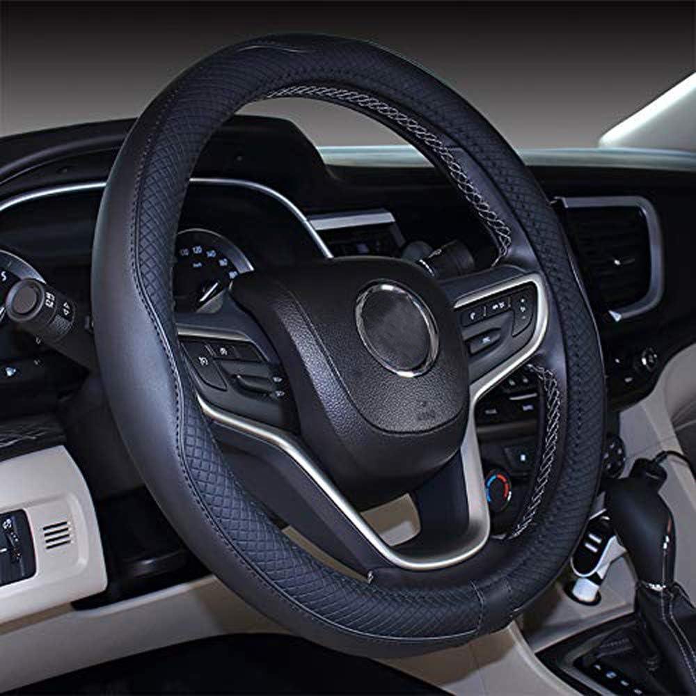 nouveau couvre-volant en cuir microfibre noir pour Prius Civic 35-36.25 cm Mayco Bell 2019