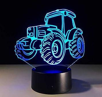 benbroo mando a distancia proyecci/ón 3d visuales LED noche 7/colores Tractor modelo patr/ón