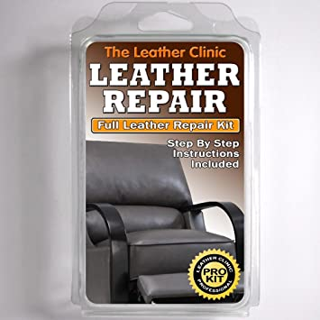DARK GREY Leather Sofa Chair Repair Kit For Tears Holes Scuffs With Colour Dye