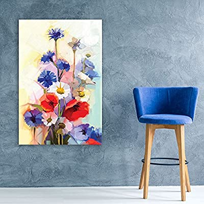 Oil Painting Style Various Colored Flowers 12