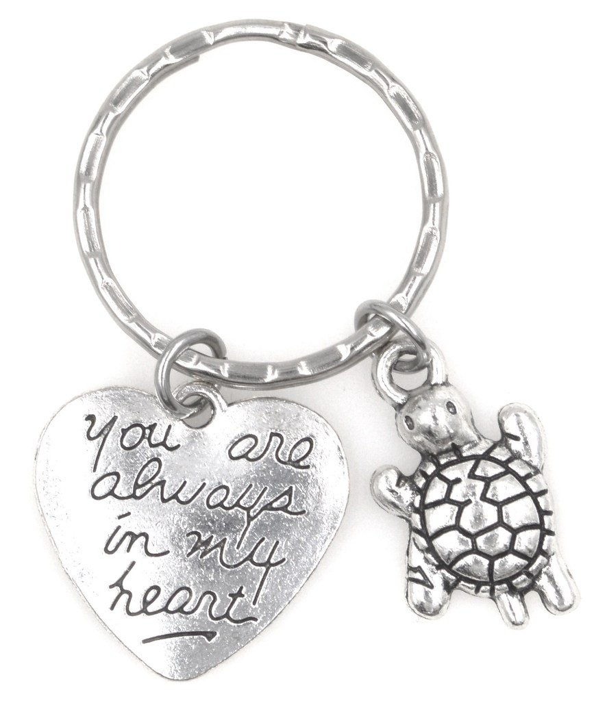 You Are Always in My Heart Turtle Keychain 111H