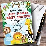 Bright Safari Jungle Animals Invitations Baby Shower Invitations