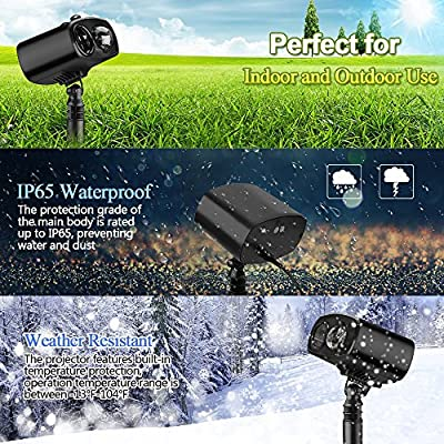 LED Projector Lights Landscape Spotlight Waterproof Outdoor and Indoor Party Lights for Valentine's Day Wedding Christmas Theme Party Landscape and Garden Home Decoration