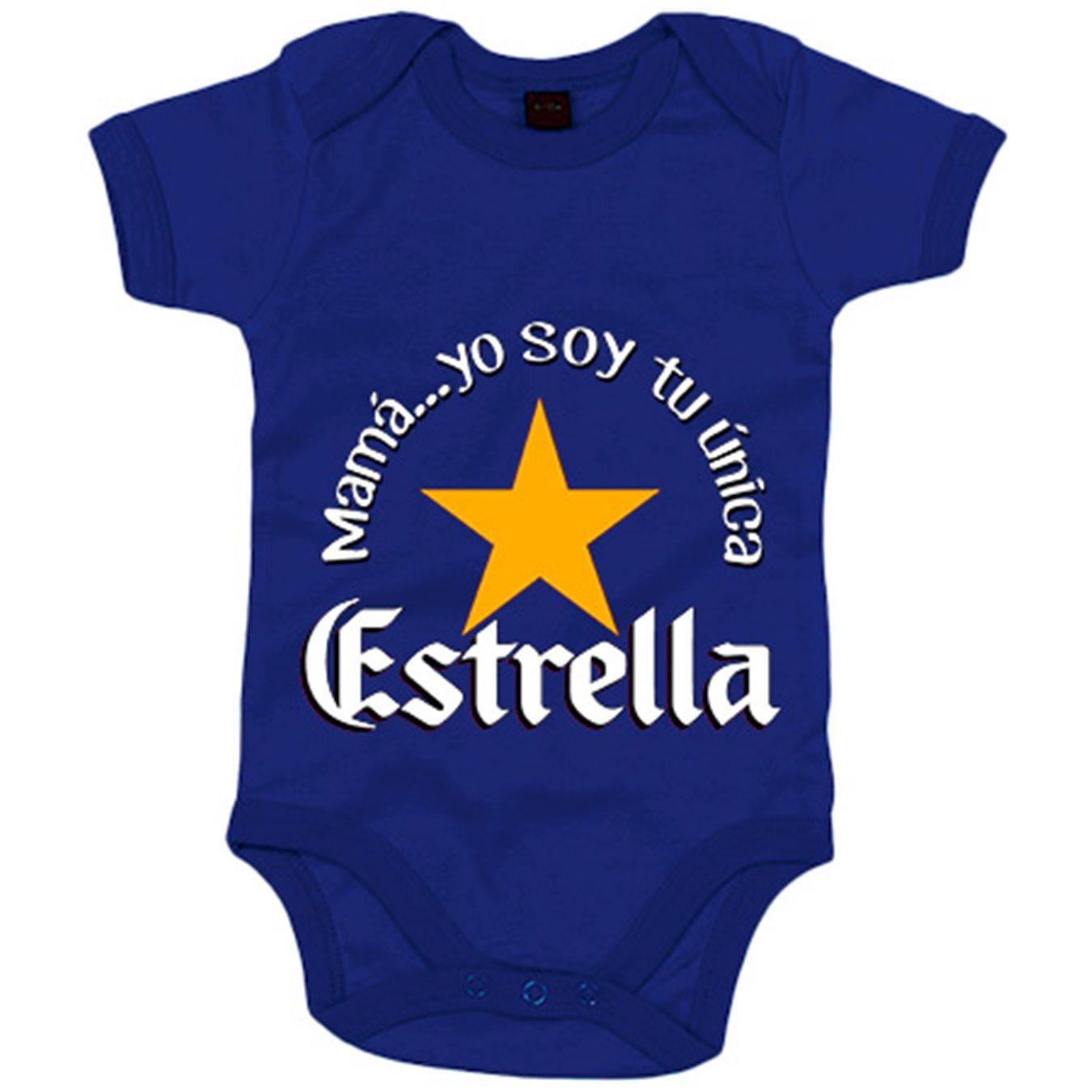Azul Royal 6-12 meses Body beb/é mam/á yo soy tu /única Estrella