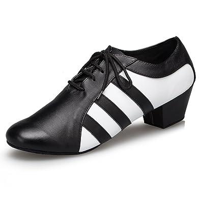 3ce72a75207f4 Miyoopark Men s Leopard Black Leather Dance Shoes 7 ...