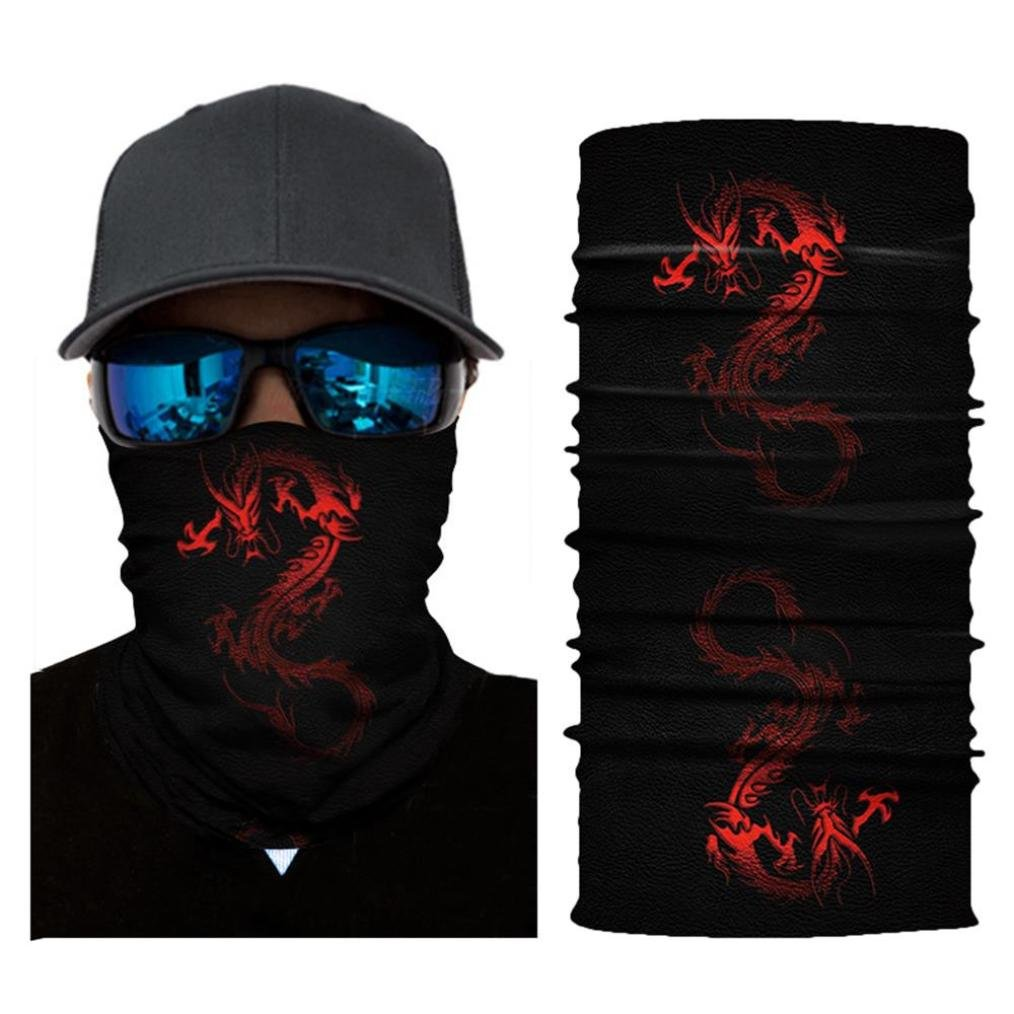 LiPing Microfiber Premium Sunscreen Cycling Motorcycle Head Scarf Neck Warmer Face Mask Ski Balaclava Headband Powerful UV-blocking Spf (R)