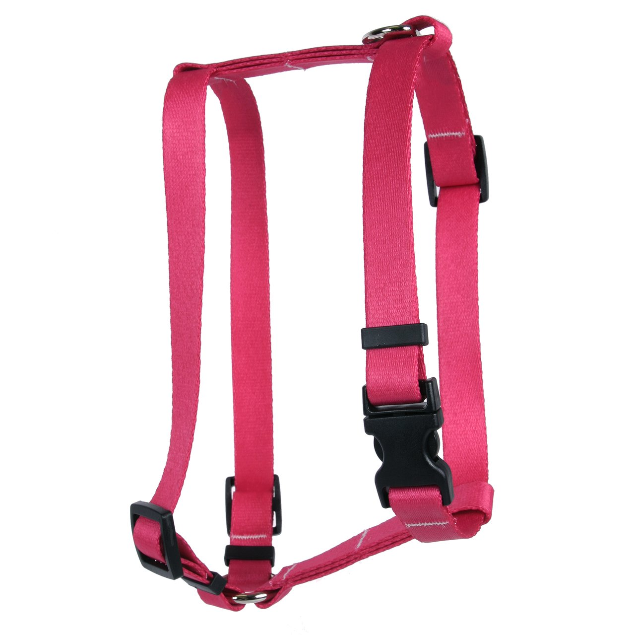 Yellow Dog Design Magenta Simple Solid Roman Style H Dog Harness, Large-1'' Wide fits Chest of 20 to 28''