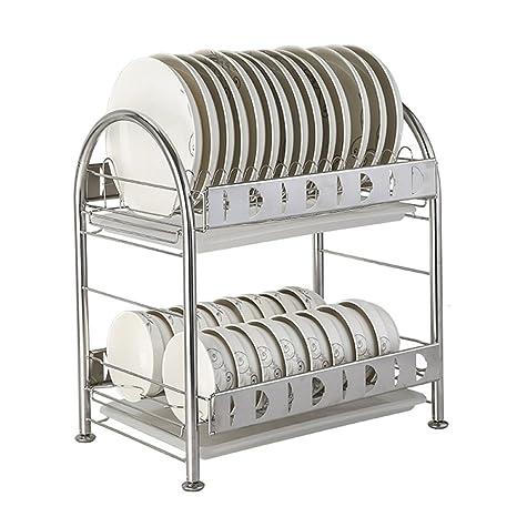 Escurridor de platos Acero inoxidable Plato de secado de 2 ...