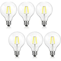 6-Pack Shine Hai G25 LED Vintage Filament Bulbs