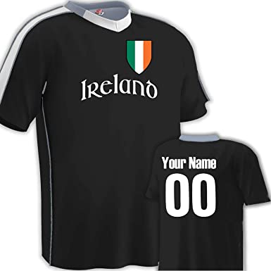 4da0e74870d Image Unavailable. Image not available for. Color: Customized Ireland  Soccer Jersey Youth Medium in Black and White