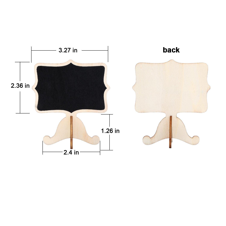 20 Ensembles Mini Tableau Noir Petit Tableau Noir de Carte avec Chevalet en Bois pour la F/ête de Mariage D/écor de l/Év/énement