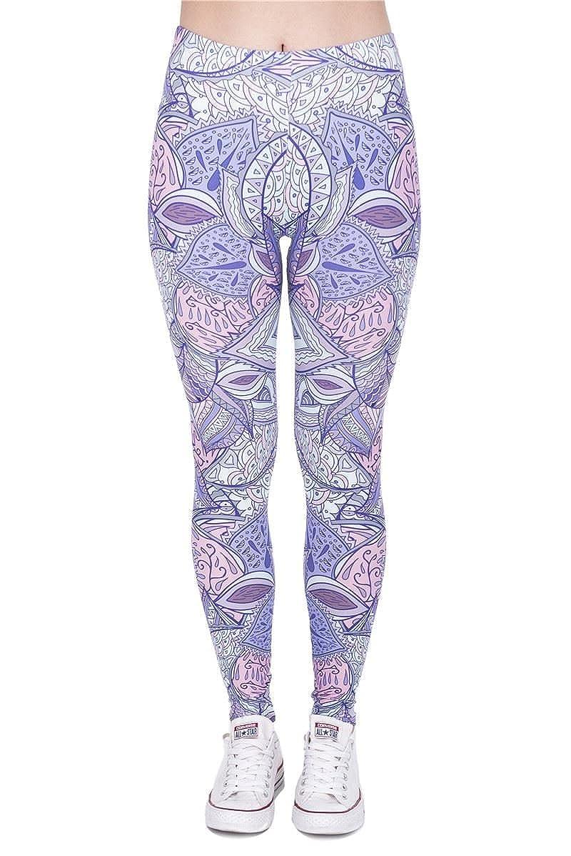 132281cae44cd Kukubird Printed Patterns Women's Yoga Leggings Gym Fitness Running Pilates  Tights Skinny Pants 8 to 12 Stretchable - Aztec Jungle at Amazon Women's ...