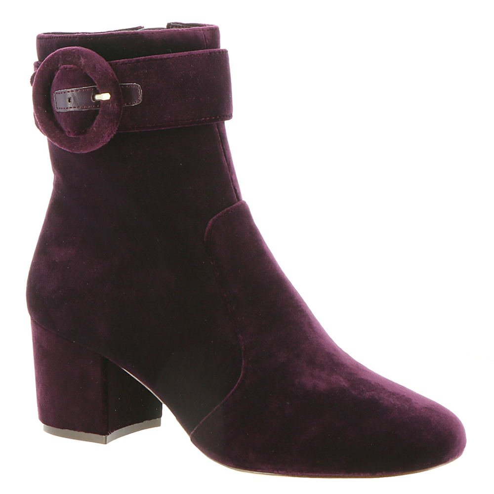 Nine West Women's Quilby Suede Ankle Boot B071483XLY 7.5 B(M) US|Dark Purple Fabric