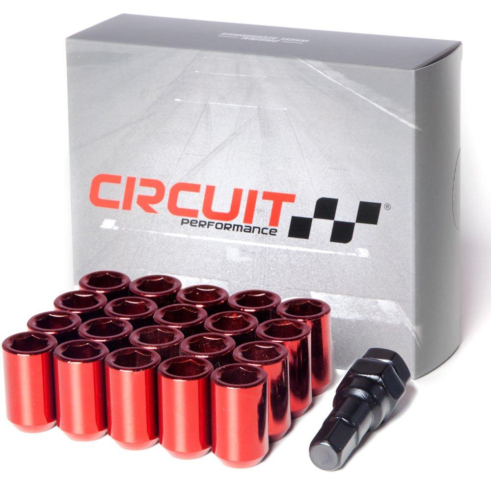 Circuit Performance Tuner Key Acorn Lug Nuts Chrome 12x1.25 Forged Steel 24pc + Tool
