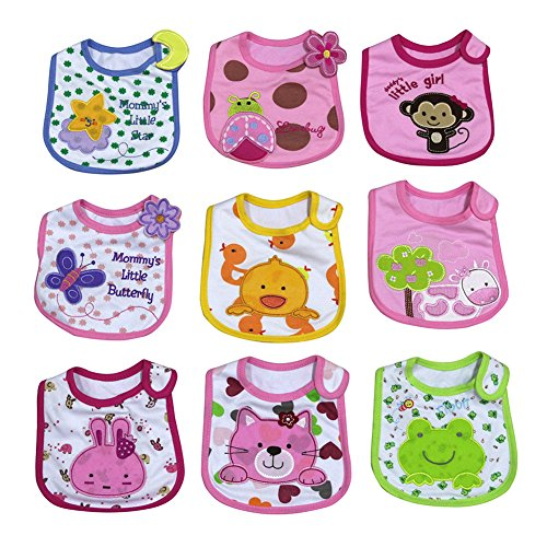 Girls Cotton Velcro 9 Pack 5049G00