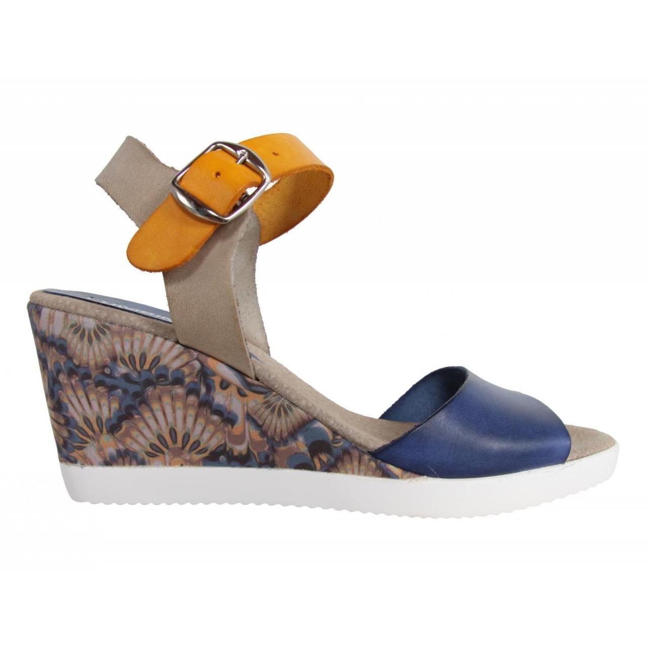 CUMBIA Schuhe Keilabsatz für Damen 30151 Jeans