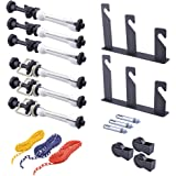 Neewer Photography 3 Roller Wall Mounting Manual Background Support System, including Two(2) Tri-fold hooks, Six(6) Expand bars, Three(3) Chains