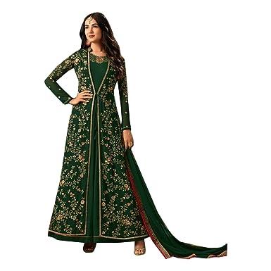 Green Anarkali Lange Salwar Kameez Kamiz Anzug Shalwar Muslimischen ...