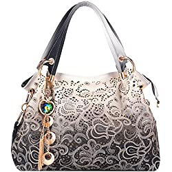 Tinksky Classic Fashion Tote Handbag Leather Shoulder Bag Perfect Large Tote Ls1195 (Grey)
