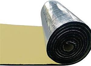 uxcell 197mil 6.4sqft Exhaust Muffler Heat Sound Deadener Insulation Mat Pad Waterproof 40x24 Inches for Automotive