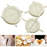 EnjoydealAU 3pcs Dumpling Press Pastry Pie Maker Wrapper Pierogie Crimper Mold Mould Tool