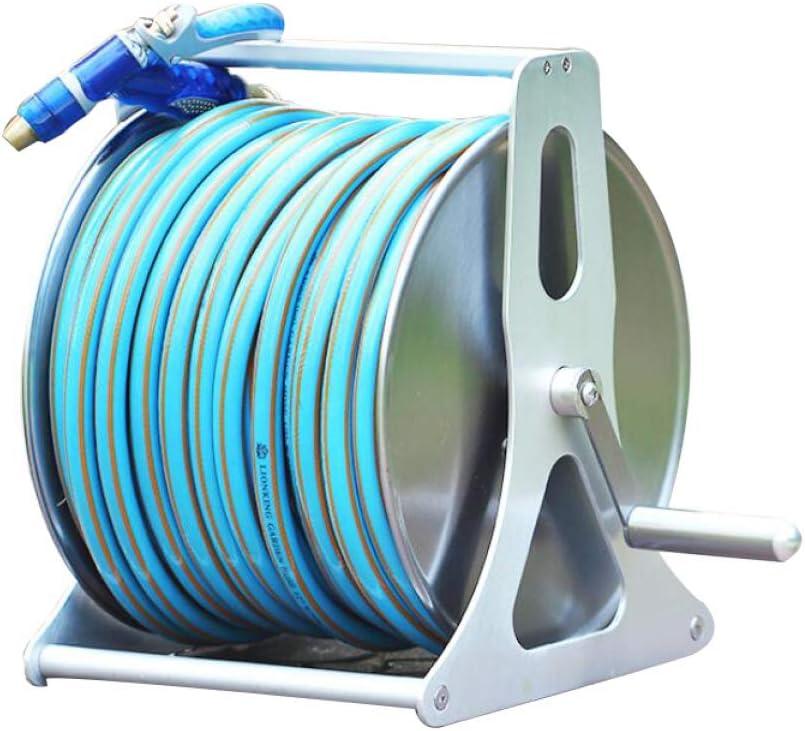 Carrete se Puede Utilizar en el hogar el Invernadero,Stainless Steel el jard/ín Las Carreteras JLDN El Acero Inoxidable Carrete para Manguera