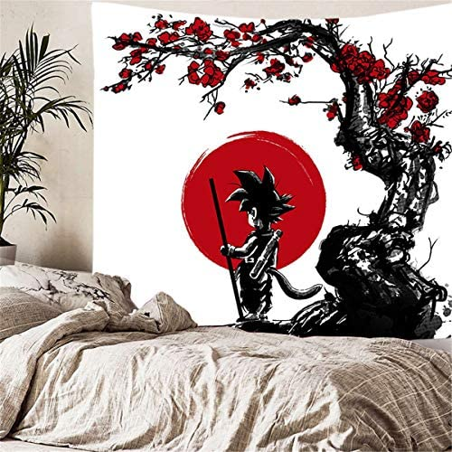 supulu Tapestry Wall Hanging, 3D Dragon Ball Wall Tapestry Anime Tapestries Wall Art Aesthetic Home Decorations for Living Room Bedroom Dorm Decor Color 5,59.1 x 78.8