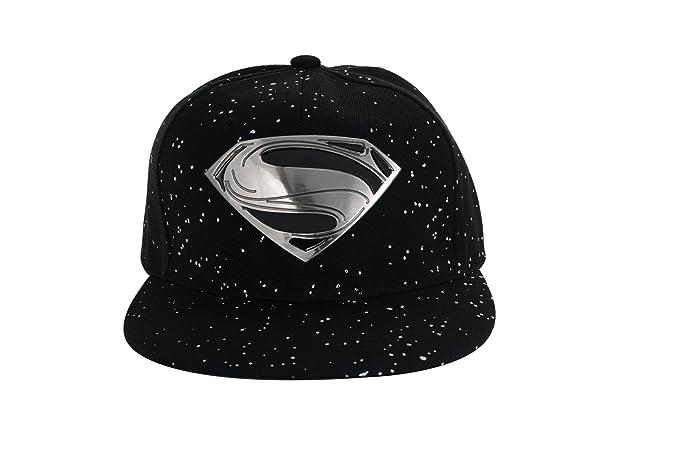Amazon.com  REINDEAR Superman Baseball Cap Hip-hop Snapback Hat US Seller  (Metal Logo Black) (0783629264519)  Books ac30f66f9fc2