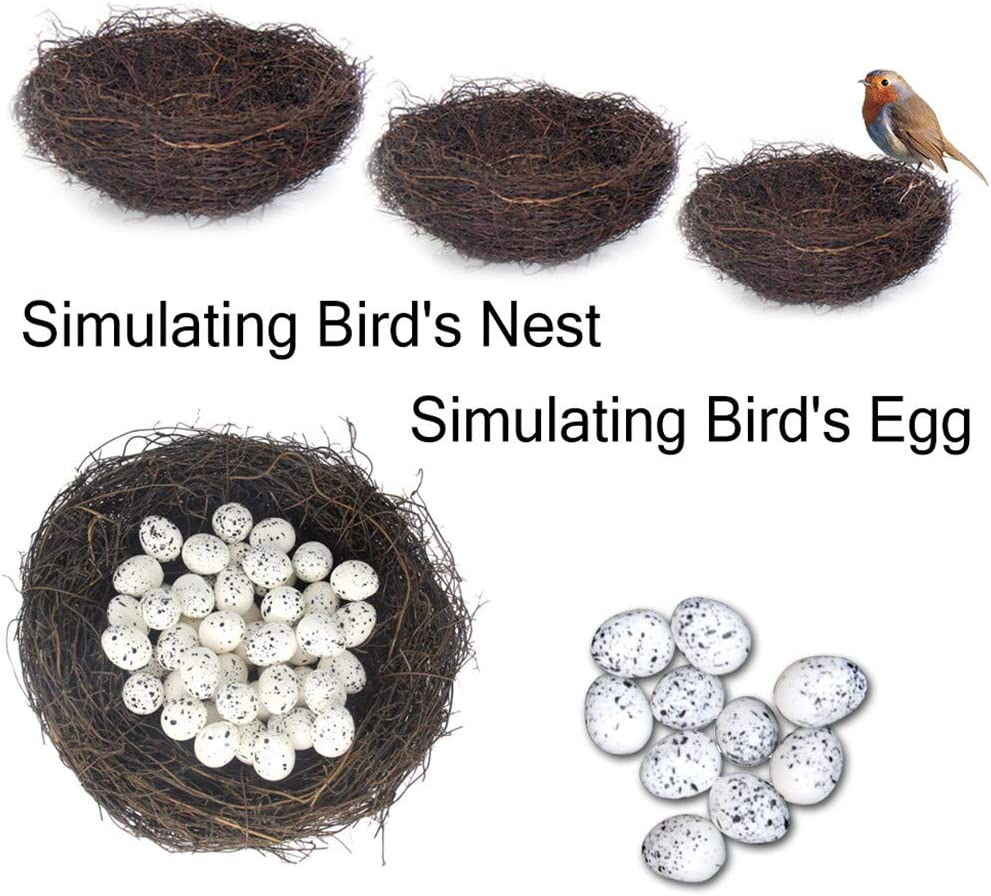 Lmtime Birds Nest Crafts Handmade Dry Natural Birds Nest for Easter Garden Yard Home Party Wedding Decor No Eggs