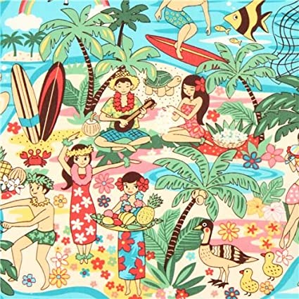 Tela turquesa de EEUU playa Hawai tabla de surf flor