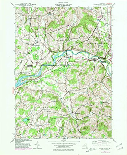 Eagle Bridge NY topo map, 1:24000 scale, 7.5 X 7.5 Minute, Historical, 1944, updated 1981, 26.8 x 22 IN - - Oak Map Center Brook