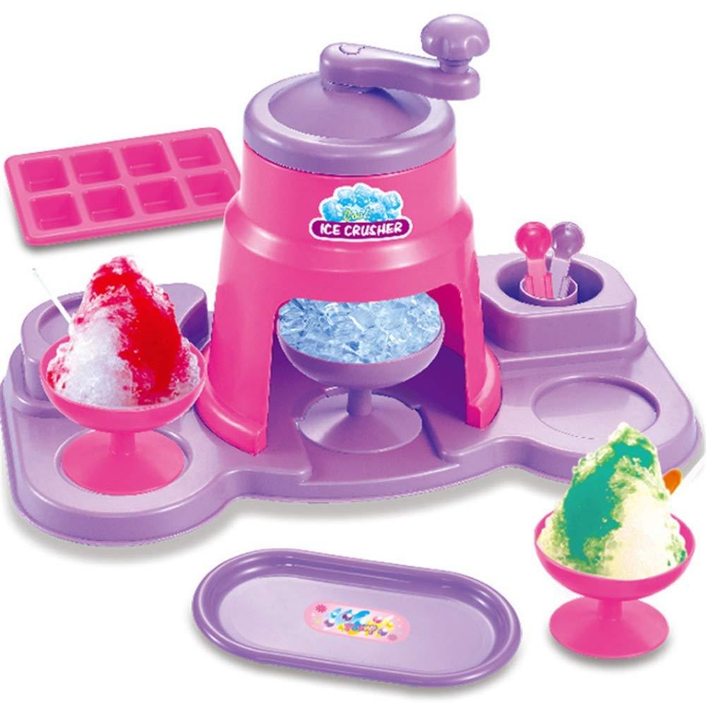 Casa de muñecas Máquina para hacer helados Juguete triturador de hielo con música e iluminación para niños y niñas Juego de simulación Cubo de hielo Molde Plato de la taza Juguetes para jugar Los mueb
