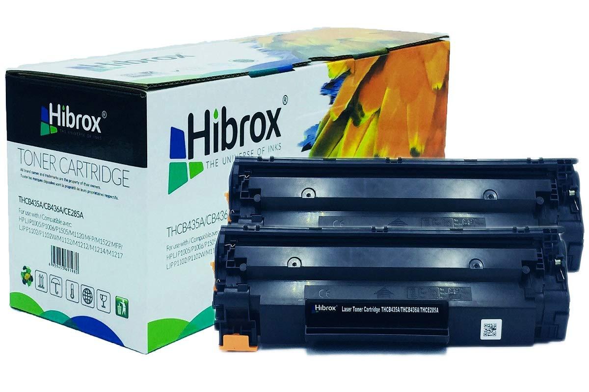 Hibrox Pack de 2 Cartuchos de Toner Compatible Con HP CE285A CB435A CB436A 85A 35A 36A Para HP LBP 6000 3010 3100 ISENSYS LBP 6020 ISENSYS MF 3010 LBP 6000 LBP 6030B L P 6000 P 3010 P 3100
