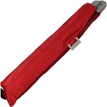 Paraguas plegable Doppler 5 años de garantía carbonsteel slim rojo